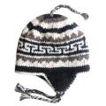 Nepal Hand Knit Ear Flaps Beanie Ski Wool Fleeced Hat Natural Colour