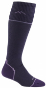 Darn Tough Vermont Women's Merino Wool Over The Calf Ultra Light Socks, Night Shade, Medium