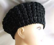 Cute Winter Black Crochet Hat