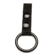 POLICE NYLON WEB NIGHT STICK BATON RING HOLDER FOR DUTY BELT WITH 2 BLACK SNAPS