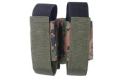 Leapers 40mm Grenade Double Pouch with Fully Adjustable hook and loop and Snap-on Closure PVC-M504E - Woodland Digital
