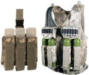 Ultimate Arms Gear Tactical Scenario Combo Combination Package Kit Set Include - ACU Army Digital Camo Camouflage Paintball Airsoft Battle Gear Tank - Armour Pod Vest + Ultimate Arms Gear Tactical ACU Army Digital Camo Camouflage Triple Universal Paint ..