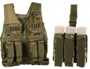 Ultimate Arms Gear Tactical Scenario Combo Combination Package Kit Set Include - Marpat Woodland Digital Camo Camouflage Paintball Airsoft Battle Gear Tank - Armour Pod Vest + Ultimate Arms Gear Tactical Marpat Woodland Digital Camo Camouflage Triple U ..