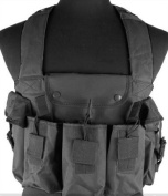 NcStar Tactical 6 Pouch AK Chest Rig - Black