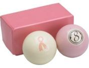 Action Billiard Balls Pink Set - Cue Ball and 8 Ball