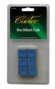 Cuetec Billiard/Pool Cue Chalk, 6 Cubes