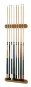 Viper 2-Piece Traditional Wall Mounted Solid Oak Billiard/Pool Cue Rack, Holds 8 Cues