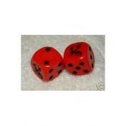 Red With Black Dragons Dice Pair
