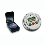 Limited Edition Chrome DB2 Dealer Button Poker Timer - Comes with Case!
