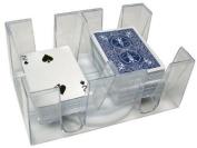 6-Deck Acrylic Revolving Playing Card Holder
