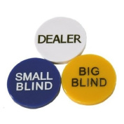 Small Blind, Big Blind and Dealer Button Poker Lot