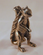 Squirrel Poker Figurine Protect Your Nuts