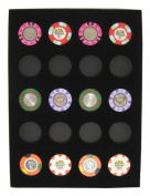 Chip Insert 20 Casino Chips Display Board Case 9 x 12