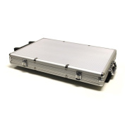 Brybelly 1000-Count Aluminium Rolling Poker Chip Case
