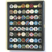 Casino Chips Coins Display Case Cabinet Holder Wall Rack w/ UV Protection -Black