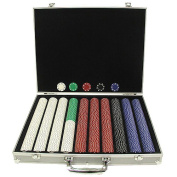 Trademark Poker 1000 11.5-Gramme Suited Chips in Silver Alum Case