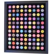 Black Casino Chip Display Frame for 99 Casino Poker Chips