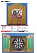 NCAA Alabama Crimson Tide Solid Pine Cabinet And Bristle Dartboard Set