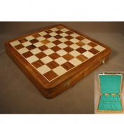 Sheesham Hinged Wood Storage Chest Chess Board
