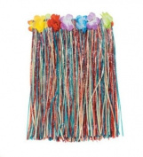 Luau (Pack Of 3) Multi-Colour Child's Hula Party Skirts - Floral Waistbands