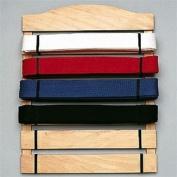 Karate Belt Display Wood Rack - 6 Belts