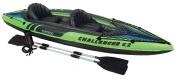 Intex Challenger K2 Kayak, 2-Person Inflatable Kayak Set with Aluminium Oars and High Output Air Pump