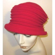Red Parkhurst Wool Accordian Hat