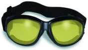 Eliminator 24 Yellow Tint-Transitional Lens Red Baron Motorcycle Aviator Riding Goggles Day Night With Photocromatic Transition Lenses (Yellow to Smoke) Boxed and Includes Micro Fibre Pouch for Storage and Safe Cleaning.