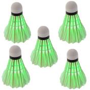 YKS 5*Dark Night LED Badminton Shuttlecock Birdies Lighting Green