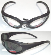 2 Windmaster Motorcycle Glasses Padded Smoked Clear Day Night NEW