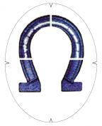 Tourna Fun Lucky Horse Shoe Racquet Stencil
