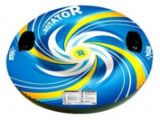 Pelican International Inflatable Rotator Snow Tube - Blue/Yellow/White
