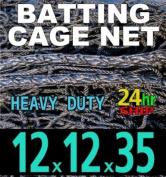 12 x 12 x 35 Baseball Batting Cage - #42 Heavy Duty Net [Net World] 24hr Ship