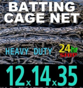 12 x 14 x 35 Baseball Batting Cage - #42 Heavy Duty Net [Net World] 24hr Ship