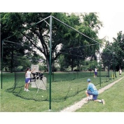 ATEC Long Life Batting Cage Netting (Fits Frames 70'L x 15'W x 12'H) - BLACK One Size