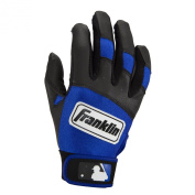 Franklin Sports Youth Classic Series Batting Gloves, Large, Black/Royal