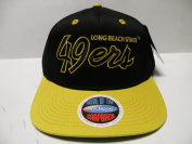 NCAA Long Beach State CSULB 49ers Script Black Gold 2 Tone Snapback Cap
