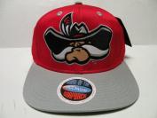 NCAA Nevada Las Vegas UNLV Rebels Logo Red Grey 2 Tone Snapback Cap