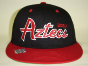 NCAA CSUSD San Diego State Aztecs Black 2 Tone Snapback Retro Cap