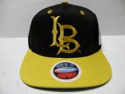NCAA Long Beach State CSULB 49ers Logo Black Gold 2 Tone Snapback Cap