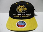NCAA Southern Mississippi Golden Eagles Black Gold 2 Tone Snapback Cap