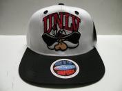 NCAA University of Nevada, UNLV Rebels White Black 2 Tone Snapback Cap