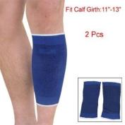 Como Blue Black Bar Stripe Stretchy Calf Crus Support 2 Pcs