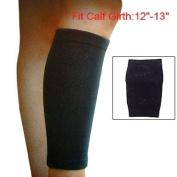 Como Black Elastic Support Calf Shin Sleeve Protector Brace