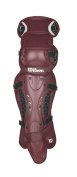 Wilson Promotion Fast Pitch Leg Guards with Isoblox, Maroon, Adult