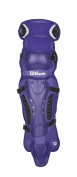 Wilson Promotion Fast Pitch Leg Guards with Isoblox, Purple, Adult