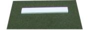 PB2436 3' x 2' Green Softball Pitchers Mound