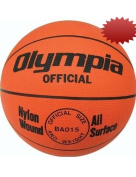 Men's Orange Rubber Basketball from Olympia