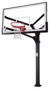 Spalding Arena View H Frame In-Ground Basketball System with 182.9cm Aluminium H Framed Acrylic Backboard