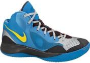 Men's Nike Zoom Hyperfranchise XD Basketball Shoe Blue/Platinum/Yellow Size 9.5